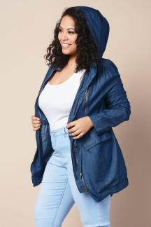 CHAMBRAY HOODED UTILITY JACKET $28.99 http://bit.ly/2f5sut8